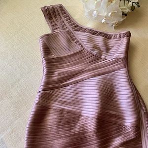 BCBG Beautiful New One Shoulder Bodycon Dress